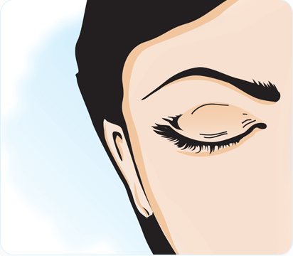 how to insert contact lense step 6