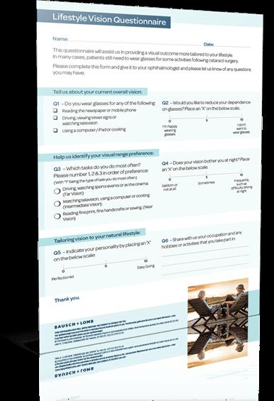 lifestyle vision questionnaire