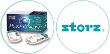 purevision silicone hydrogel and storz logo